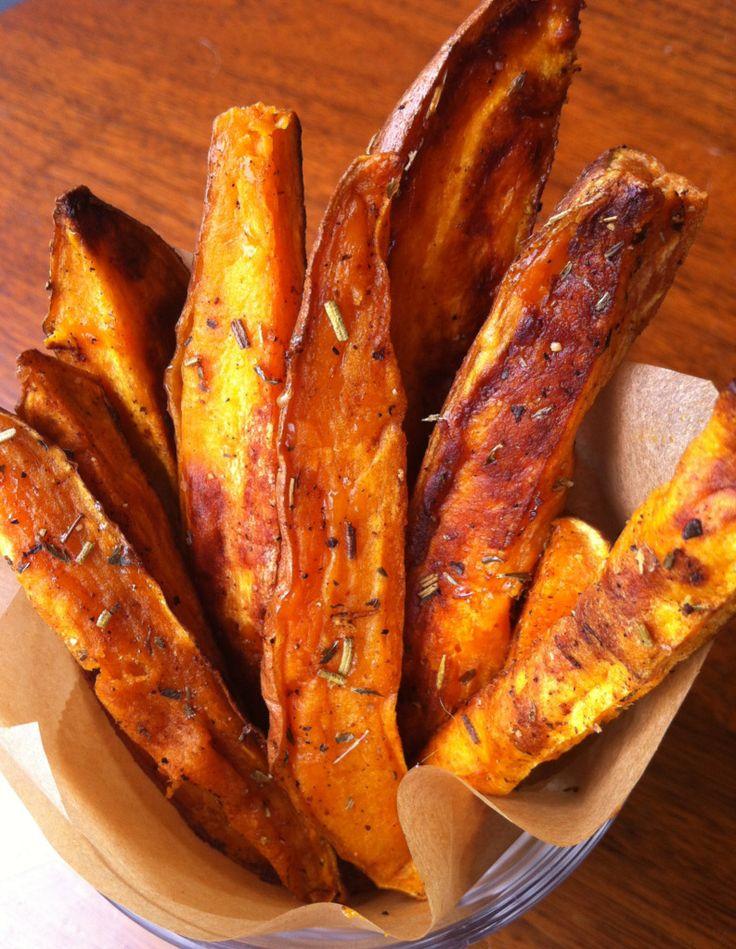 Sweet potato fries: seasoned with olive oil, salt, pepper, smoked ...