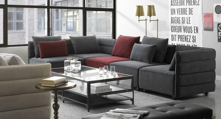 les 25 meilleures id es de la cat gorie canap bordeaux en. Black Bedroom Furniture Sets. Home Design Ideas