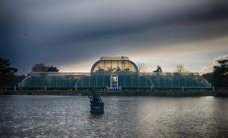 Glasshouse at Kew Gardens A very cold day out but nice moody skies on my first trip to Kew Gardens.