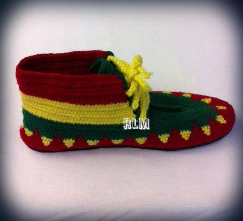 Reggae Land Muzik Store - Rasta Colors - Crochet : Shoes (High Top), $139.98 (http://www.reggaelandmuzik.com/rasta-colors-crochet-shoes-high-top/)