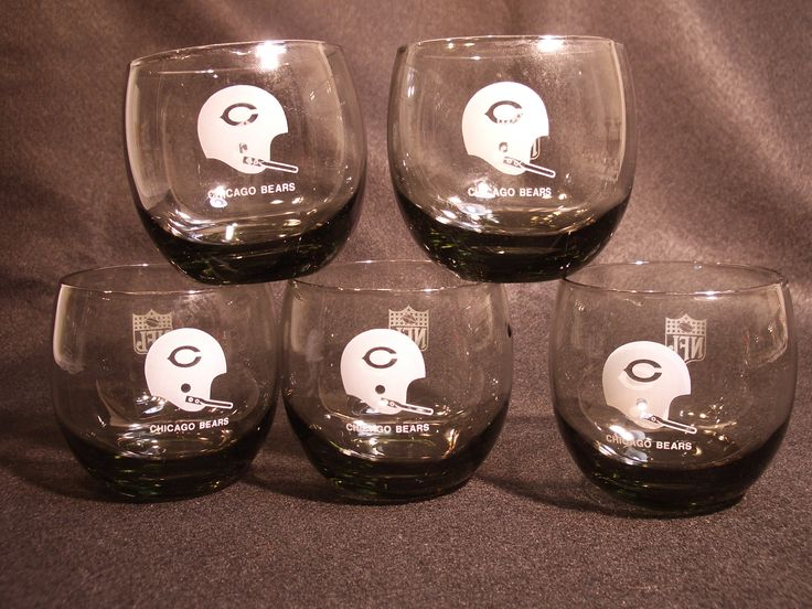 Da......Bears, da bears, da bulls, da bears smoked cocktail roly poly tumblers. They stay up better than the offensive line! http://etsy.me/2oXBa7f #TheBears