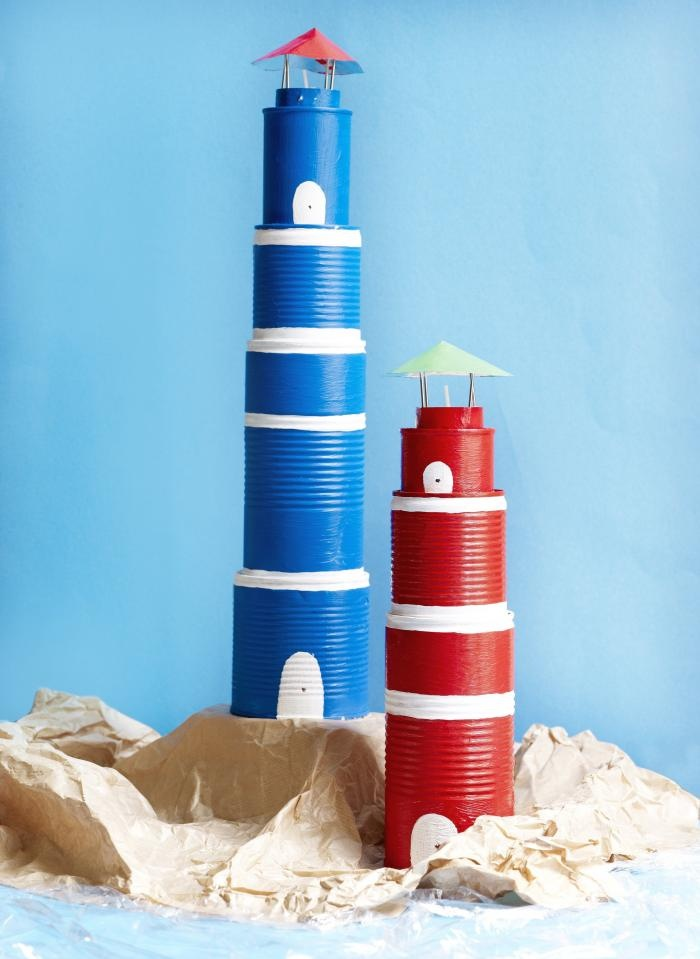 DIY lighthouse using cans | by http://libelle.be