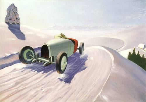Rafał Malczewski (Polish, 1892-1965), Car against the Background of a Winter Landscape, c. 1930.