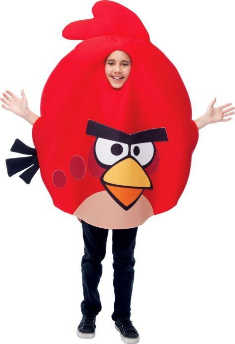 boys red angry birds costume party city - All Halloween Costumes Party City