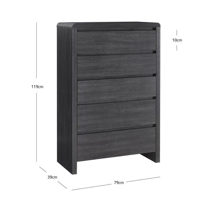 Groove 5 Drawer Tallboy | Bedroom & Mattresses | Categories | Fantastic Furniture $299