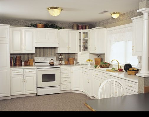 Country Kitchens with White Cabinets | White Country Kitchen