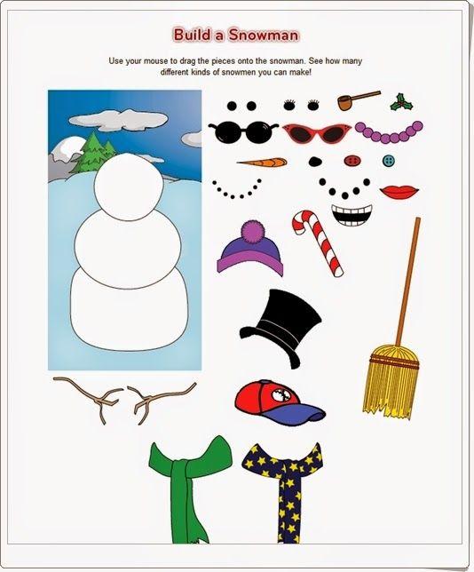 """""""Build a snowman"""" es un sencillo juego en el que los más pequeños pueden vestir a su muñeco de nieve como mejor les parezca."""