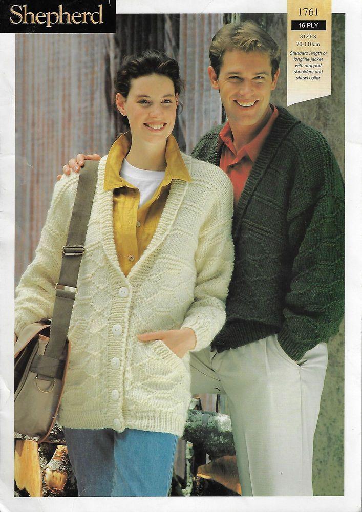 f3865c186 Men   Women s Textured Cardigan Shepherd 1761 knitting pattern chunky yarn   Shepherd