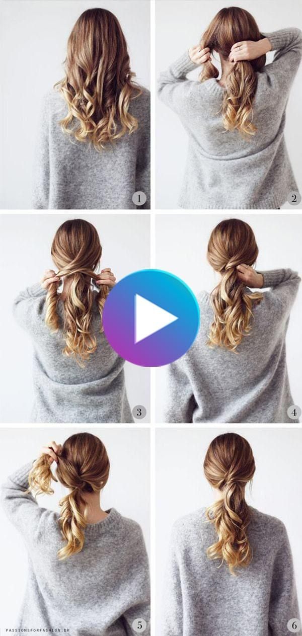 Hairstyles Step By Step Very Simple And Beautiful For School Trendstutor Beautiful Hairstyles In 2020 Hair Styles Easy Everyday Hairstyles Medium Length Hair Styles