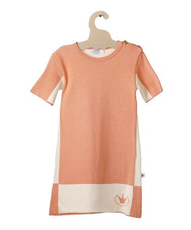 Take a look at this Orange Butterfly Color Block Organic Dress - Toddler & Girls by Mole - Little Norway on #zulily today!