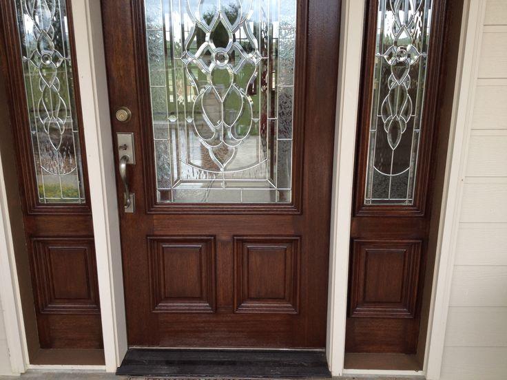 Door Stains Mahogany Gel Stain Garage Doors Looks Like Faux Wood Lov It U0027chelle