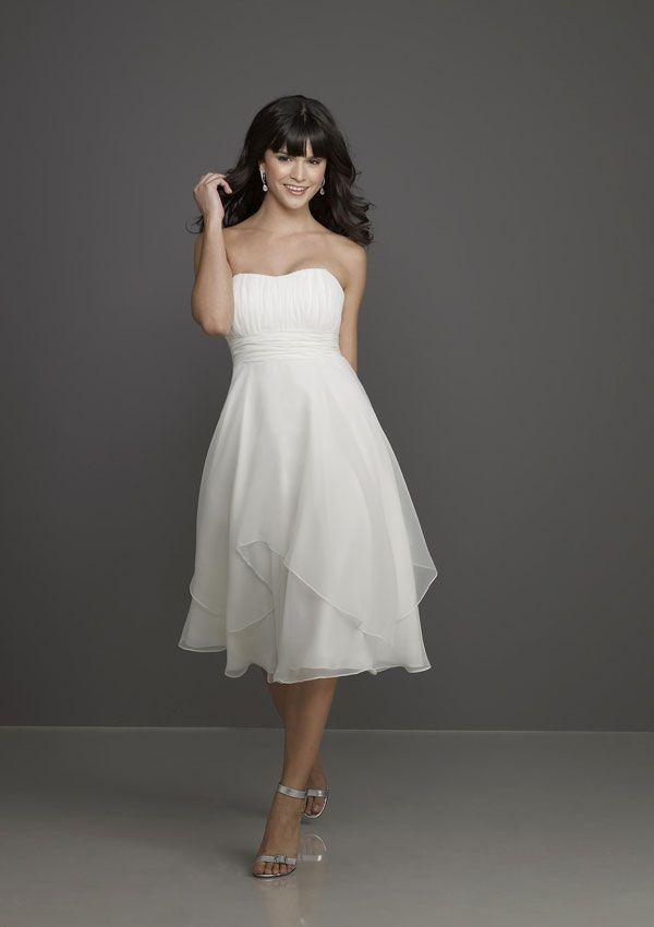 short bridesmaids dress from Affairs by Mori Lee Style 791  Chiffon