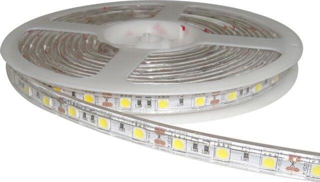 Eficienta si economie! BANDA LED 60x5050 10.8W IP65 ALB NATURAL emite lumina cu intensitate superioara, in conditii de consum redus (10,8W/m). Poate fi instalata la interior-exterior datorita gradului de protectiei IP65.  Pret per metru.