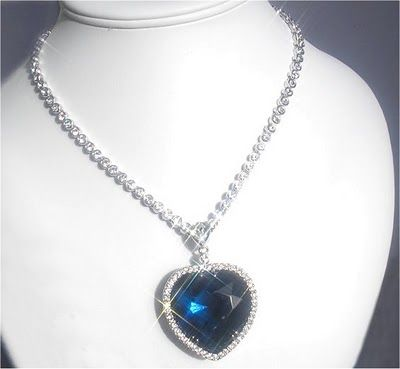 Titanic Heart of the Ocean Diamond valued at Twenty Million.