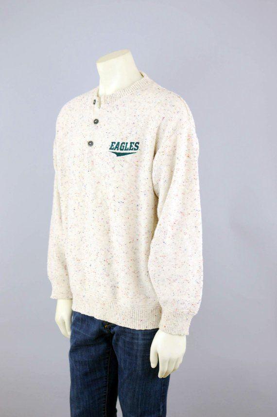 reputable site 05a5a 3fe91 80s NFL Philadelphia Eagles Sweater Vintage, 90s Football ...