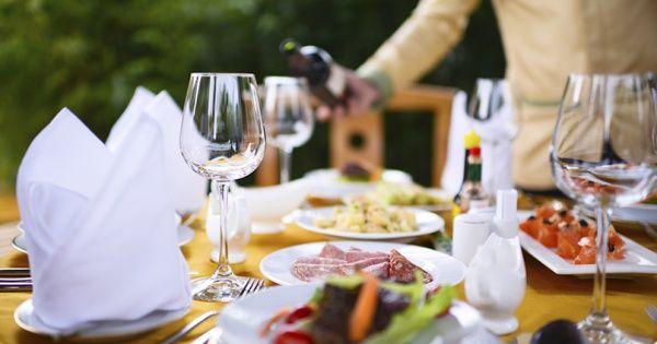 Dineren in de tuin, dat is pas klasse!