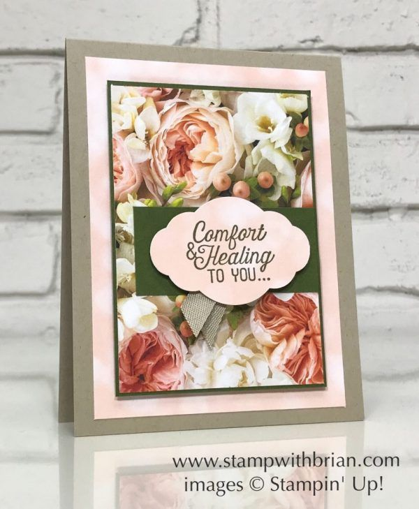 comfort and healing Floral get well card sympathy