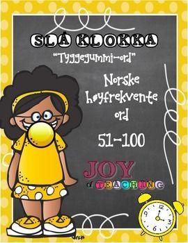 Norwegian High-Frequency Words Set #2 - Yellow