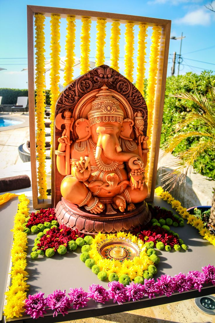 Indian Wedding Ceremony in Portugal: Ganesh Puja (Prayer to Lord Ganesh) All auspicious indian wedding ceremonies begin with a prayer to Lord Ganesh. #indianweddingceremonyportugal