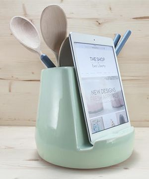 Simplify the life (and save the iPad) of your loved one with this kitchen dock.