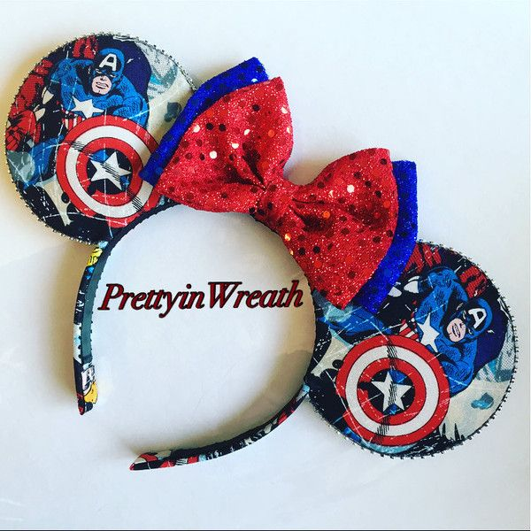 Marvel inspired Mickey Mouse ears headband