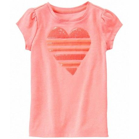 Camiseta Gymboree Sequin Stripe Heart