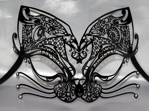 Venetian Masks, Masks Cats Masks, Black Cats, Cats Masquerades Masks ...