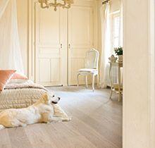 Quick-Step 'Palazzo' hardwood floor - 'Limed grey oak matt' www.quick-step.com