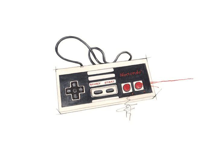 """""""Nintendo""""  Copyright: Emmeselle.no  Illustration by Mona Stenseth Larsen"""