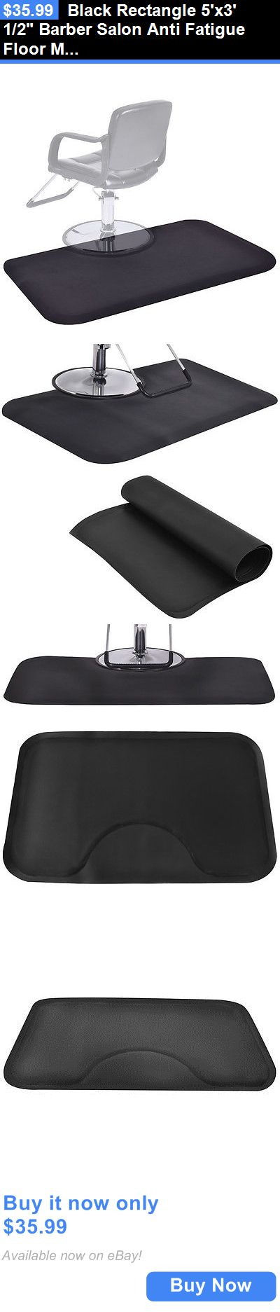Other Salon and Spa Equipment: Black Rectangle 5X3 1/2 Barber Salon Anti Fatigue Floor Mat Beauty Supplier BUY IT NOW ONLY: $35.99