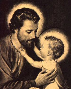 Saint Joseph. I love this picture of him and on Father's Day I thought that it would be nice to share