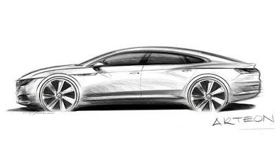Volkswagen zeigt eine Vorschau neue Arteon Fastback um CC zu ersetzen Featured Geneva Motor Show New Cars VW VW CC