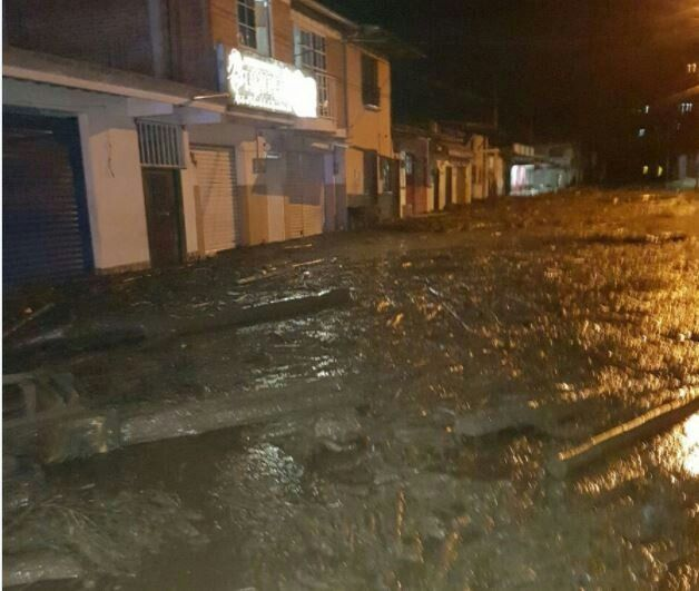 Avalancha en Corinto, Cauca.      7 Nov. 2017.