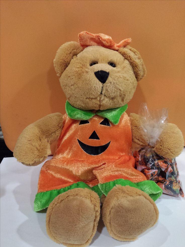 Halloween Pumpkin Girl Bear