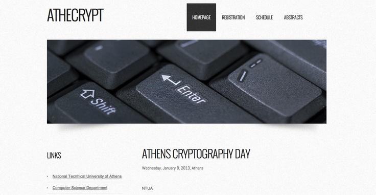 Athens Cryptography Day (NTUA)