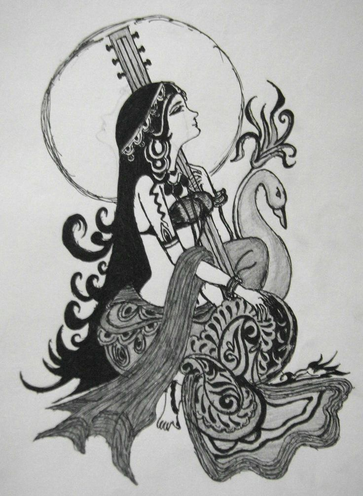 Saraswati - Hindu Goddess of knowledge.