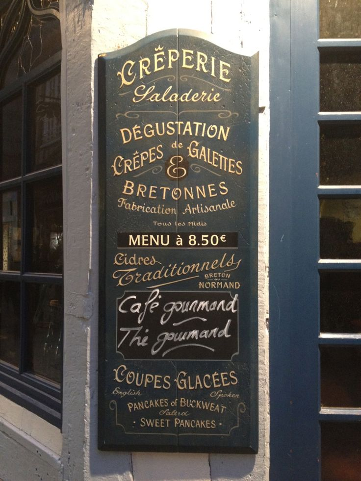 """This crêperie-saladerie has a menu that does justice to their """"fabrication artisanale"""". Fine."""