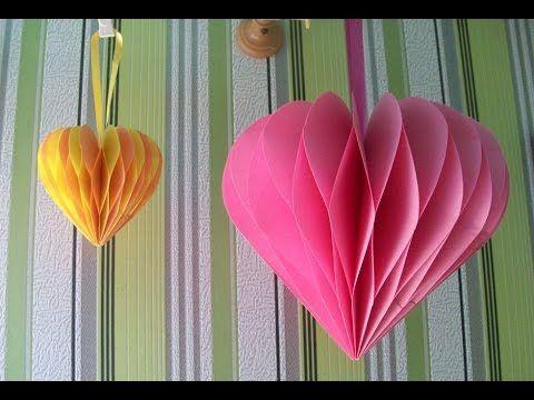 Как Сделать Подарок Своими Руками Мастер Класс 3D Сердце Tutorial 3D Heart
