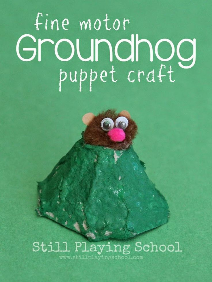 Groundhog Finger Puppet Craft from Still Playing School