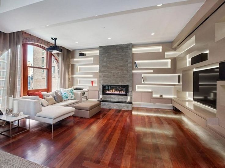 Die besten 25+ Wandgestaltung wohnzimmer beispiele Ideen auf - villa wohnzimmer modern
