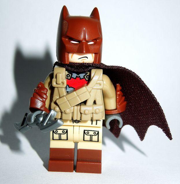 Custom LEGO Minifigure of the Week - Desert Batman by TheLegogian #LEGO #BrickWarriors #Minifigure #Batman #TheDarkKnight #LEGOaccessories #MinifigureAccessories