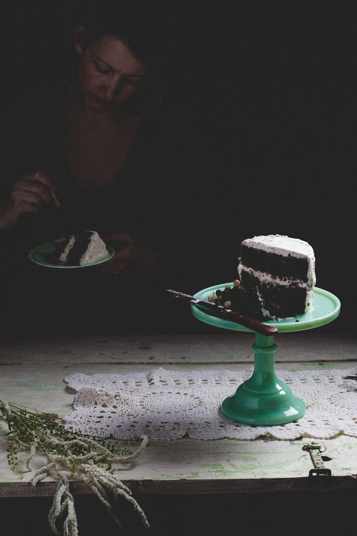 Chocolate Rye Cake with Brown Butter-Honey Whipped Cream