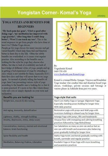 Yoga article By Yogacharini Komal in  IAASA Newsletter Adelaide