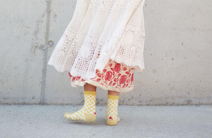 Spike flower Socks www.hopsocks.com