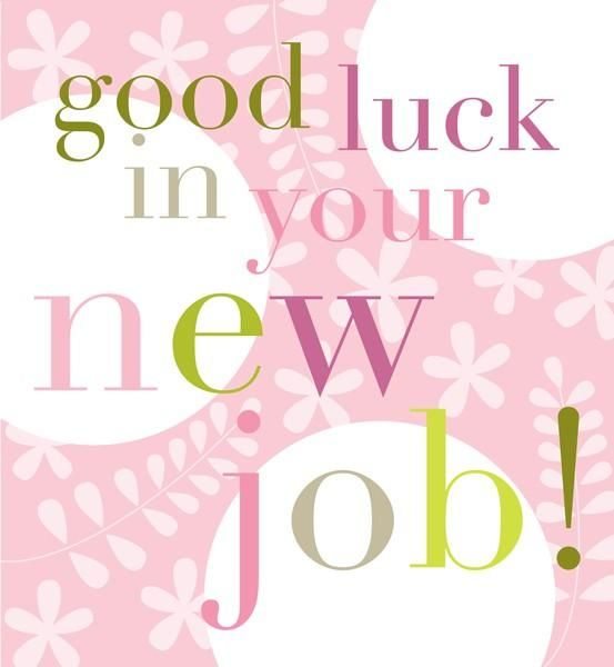 clipart good luck new job - photo #32