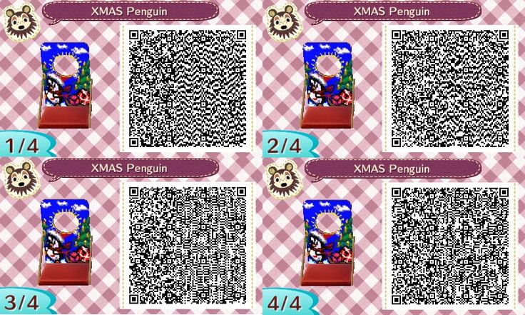 Xmas Penguin - Pinguin - Greatings - Weihnachten - Fotowand - Bilderwand - photo stand - Animal Crossing New Leaf - ACNL - QR - Broesel