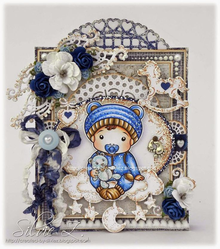 CHA 2015 New Release Showcase - Day 5! Card by Silvie Zahradnickova featuring Baby Luka and these Dies - Masquerade Mask, Heart Fan, Open Hearts Doily Border, Hanging Hearts and Love Word Set, Moon and Stars Banner, Rocking Horse, Small Lacy Border, Stitched Sun and Clouds :-) Shop for our NEW products here - http://shop.lalalandcrafts.com/NEW_c16.htm More Design Team inspiration here - http://lalalandcrafts.blogspot.ie/2015/01/cha-2015-new-release-showcase-day-5.html