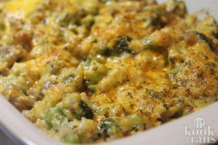 Deze ovenschotel met broccoli en rijst heeft alles wat je