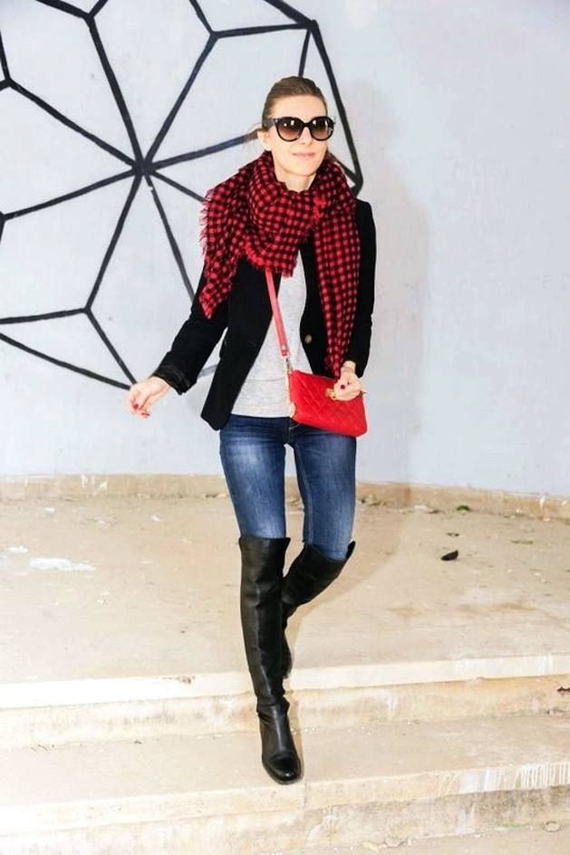 Black And Red Tartan Scarf  # #Well Living Blog #Fall Trends #Fashionistas #Best Of Fall Apparel #Scarf Tartan #Tartan Scarves #Tartan Scarf Black and Red #Tartan Scarf Clothing #Tartan Scarf 2014 #Tartan Scarf Outfits #Tartan Scarf How To Style