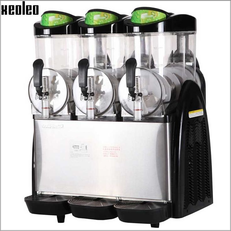 2995.00$  Watch here - http://alipfm.worldwells.pw/go.php?t=32773185872 - Xeoleo Three cylinder Slush machine 12L*3 Snow melt machine Smoothie machine 220V  Snow grains Slush dispenser Smoothie maker 2995.00$